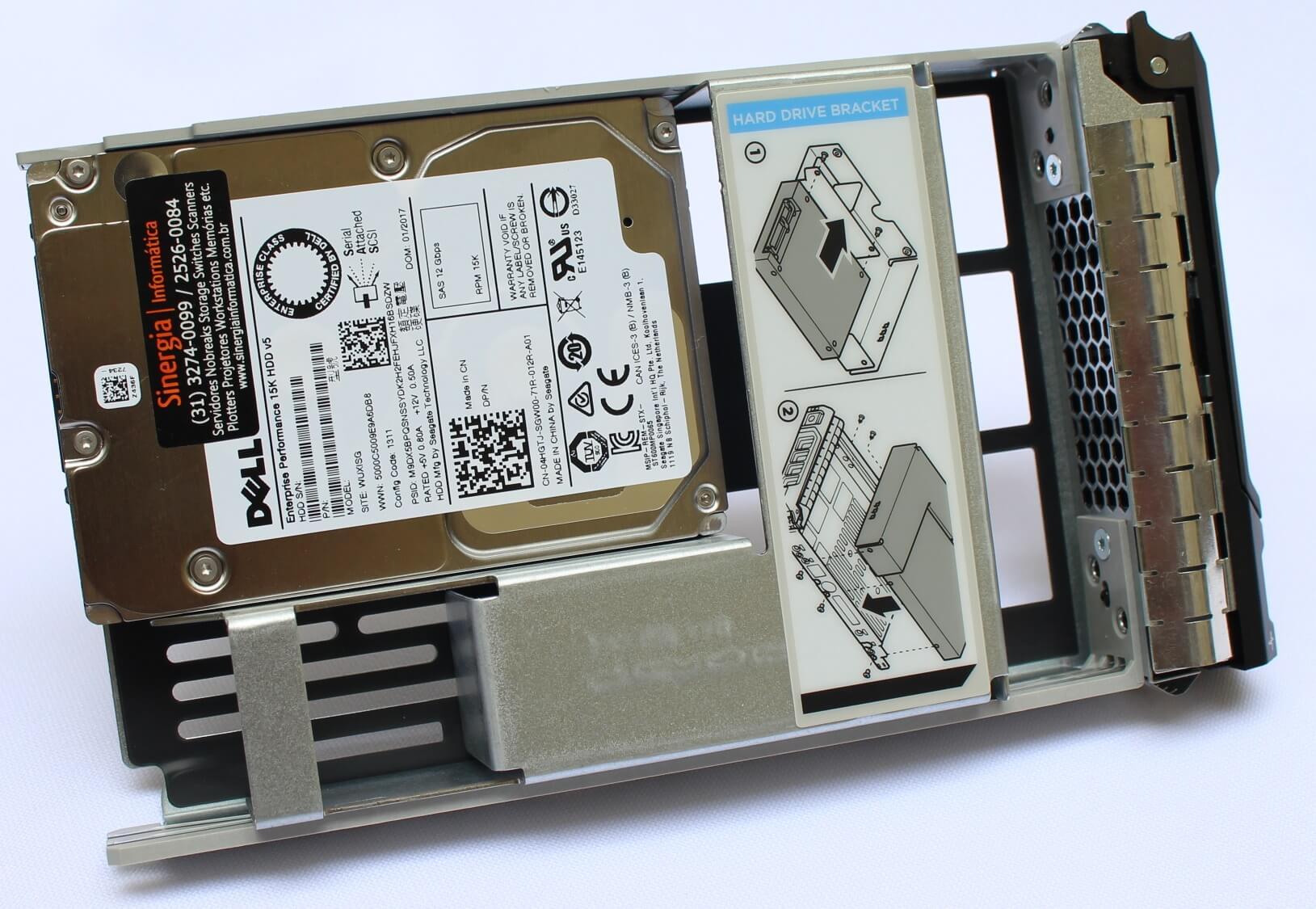 "400-ATJS Dell 1.8TB SAS 12Gbps 512e 2.5"" Unidade De Conector Automático 3.5"" Portadora Híbrida de 10K RPM J1K10 pronta entrega"