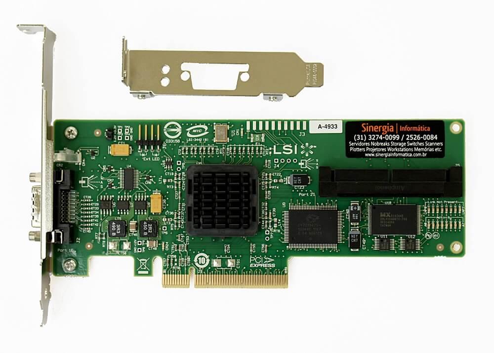 416096-B21 HP Controladora SAS (PCI-E) Single Channel HBA inteiro
