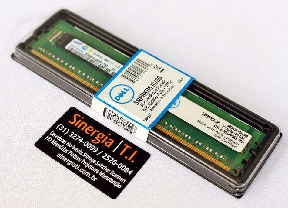 Memória RAM Dell 8GB para Servidor M915 DDR3 1600 MHz PC3L-12800R RDIMM ECC Registrada Peça da Dell pronta entrega