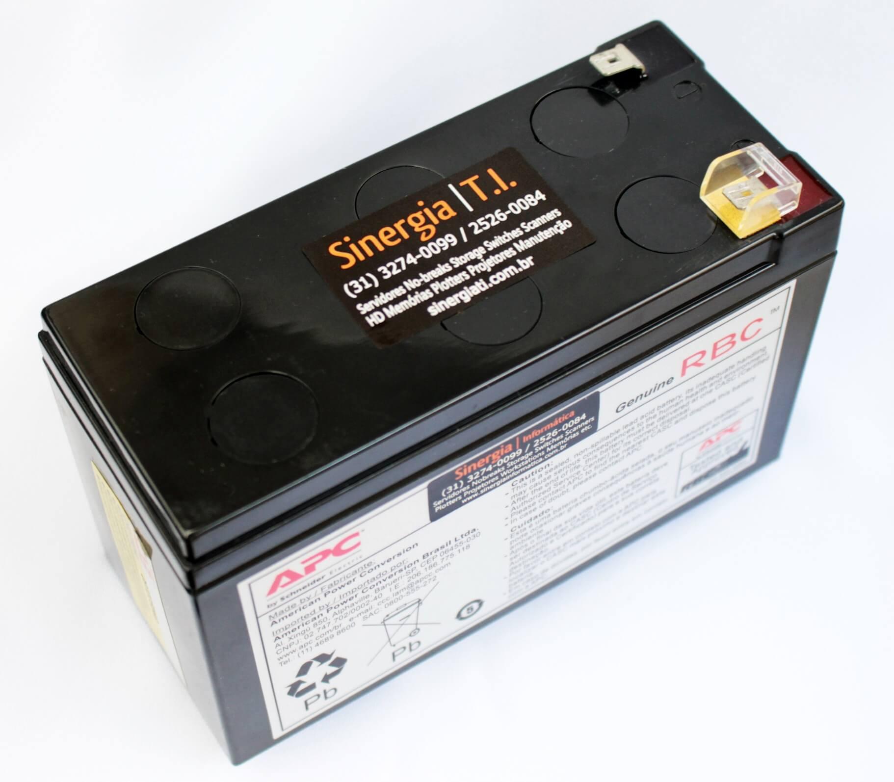 Bateria para manutenção em No-Breaks APC BE600