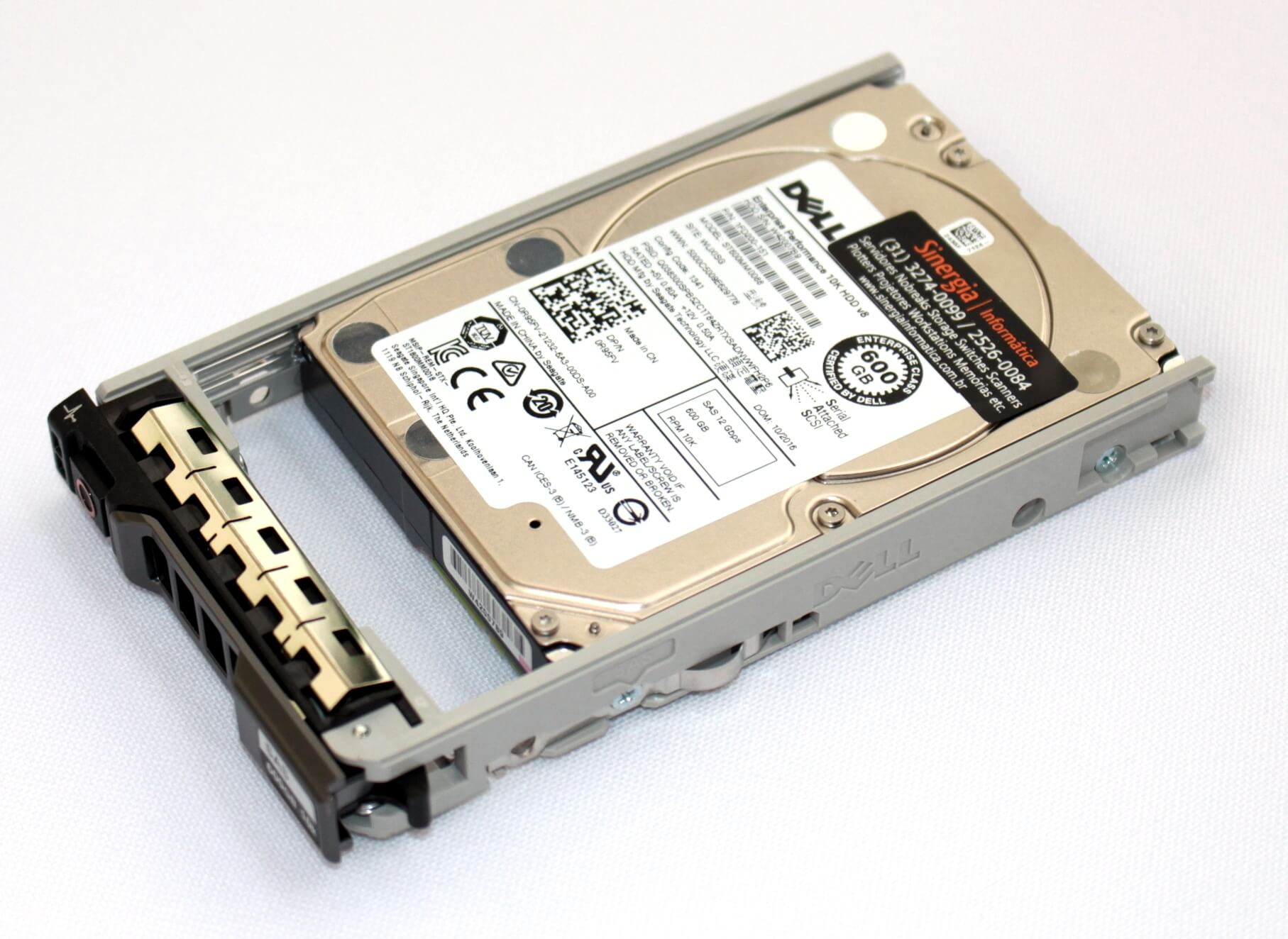 400-AJPP | Dell Disco Rígido 600GB SAS 10,000 RPM SFF (2.5in) HDD F0V7R