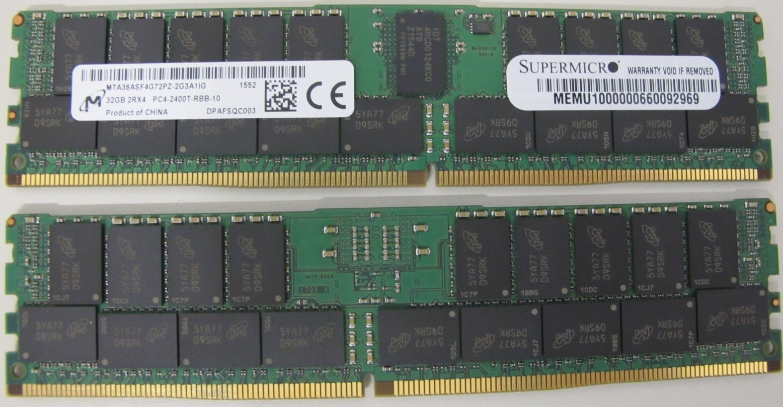 Memórias RAM de 32GB para os Servidores com Processadores Intel Xeon família V4