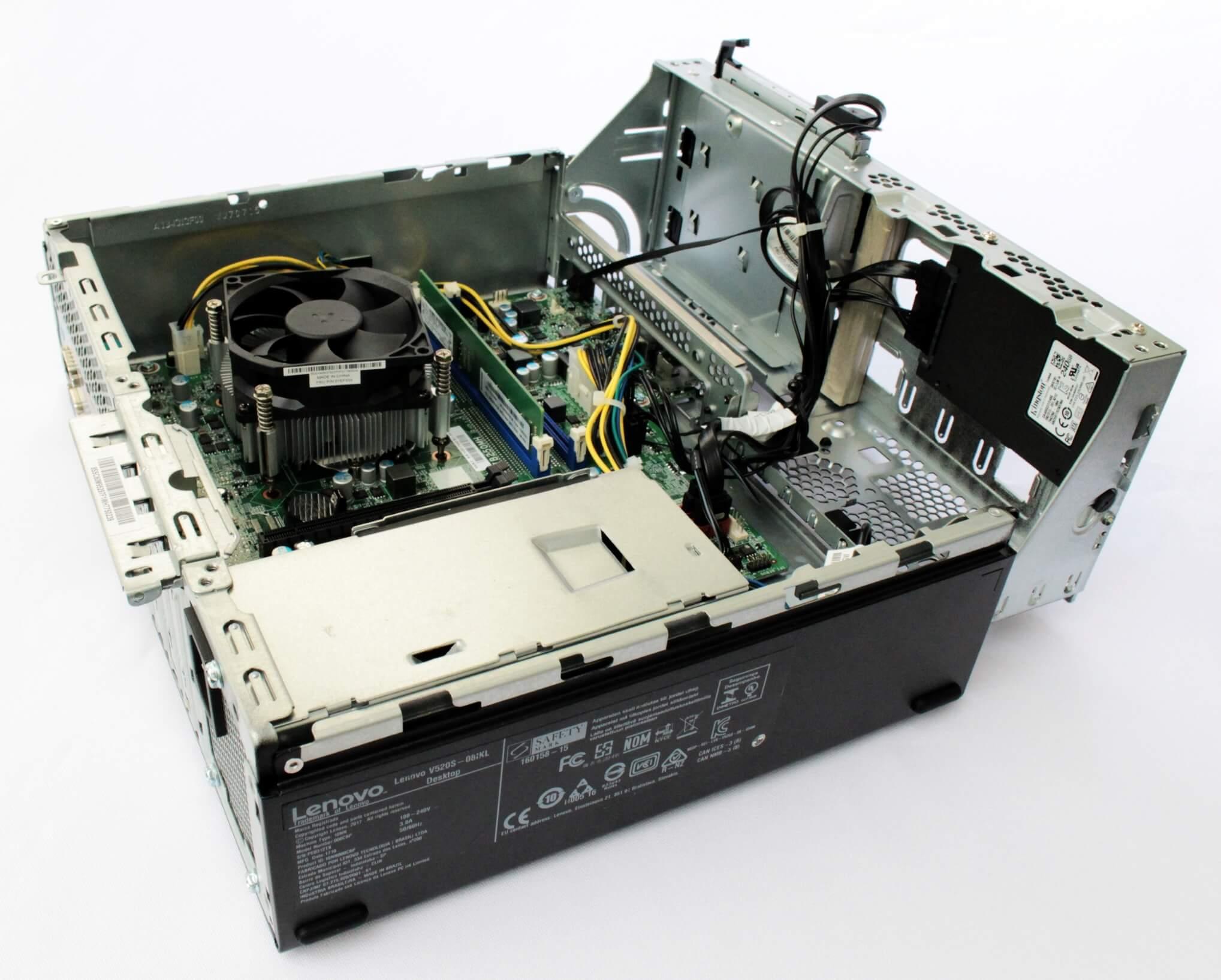 10NN000CBPSSD | Desktop Lenovo Modelo V520S SFF Intel Core i5-7400 aberto