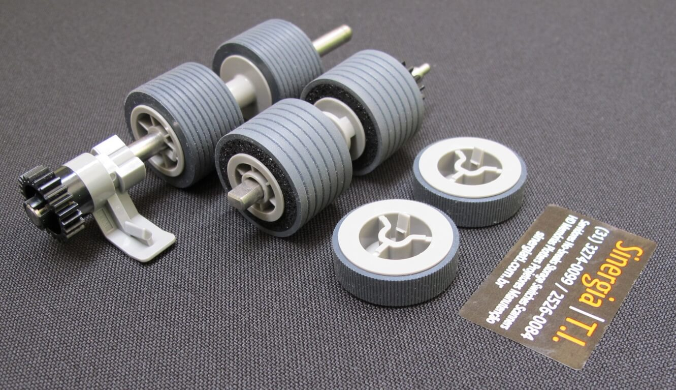Brake Roller Fujitsu Original PA03575-K013 para Scanners fi-6800 foto do kit completo