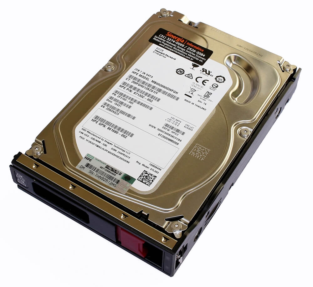 861681-B21 HD HPE 2TB SATA 6G Midline 7.2K LFF (3.5in) LP Digitally Signed Firmware