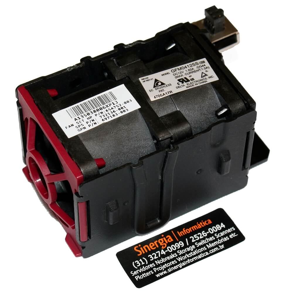 FAN SET HP P/N: 654752-003 Kit de Ventilador Redundante HPE DL360e Gen8 / DL360p Gen8