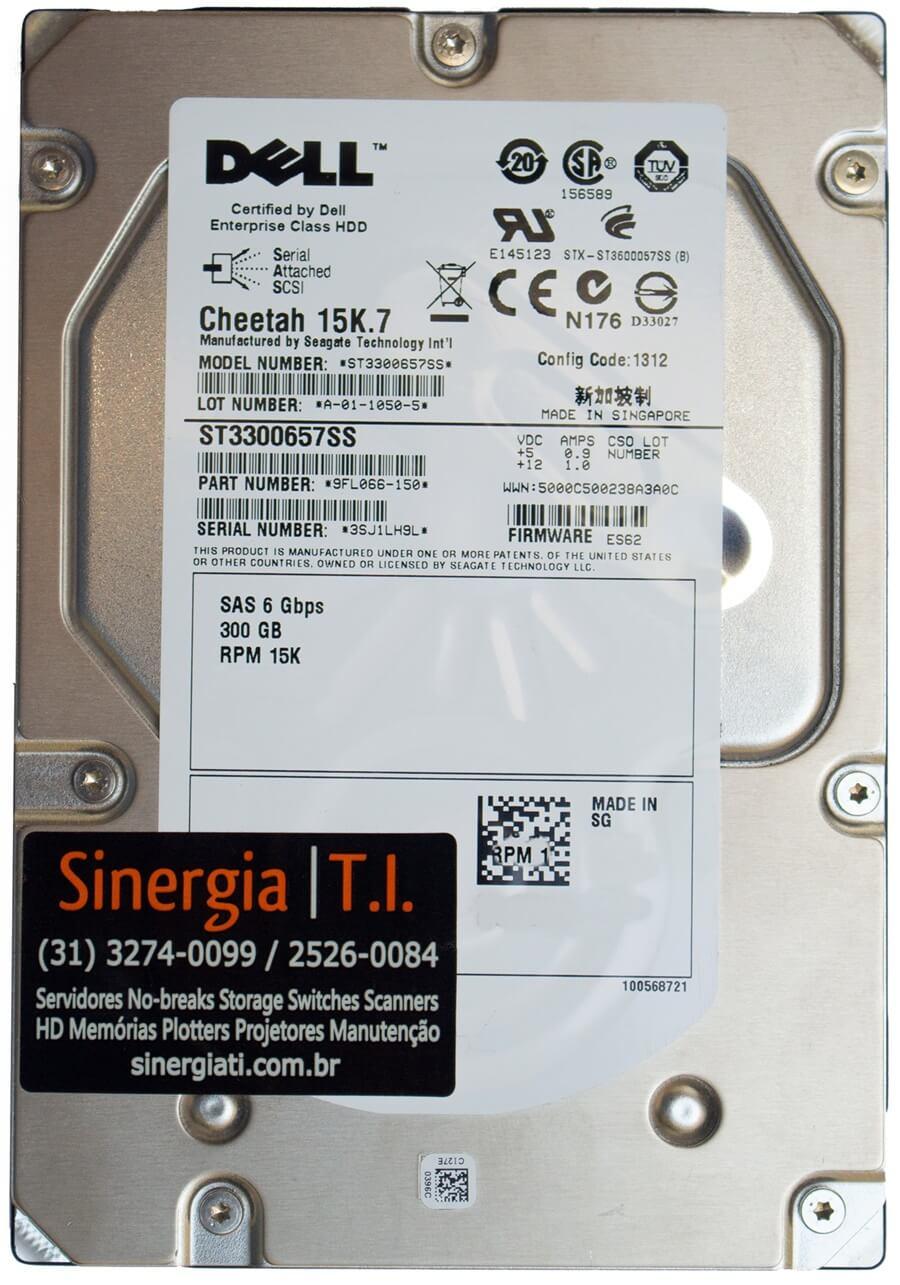 "HD 300GB SAS 15K 3,5"" 6Gbps Hot-swap para Storage Dell MD3200 M1000e MD1120 MD1220 MD3220i MD3620i"