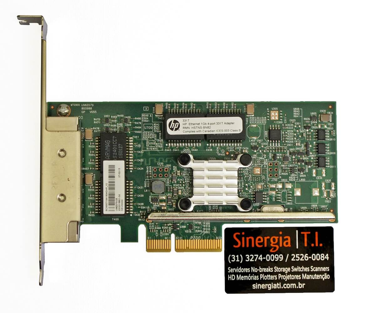 647594-B21 HP Ethernet 1Gb 4-port 331T Adapter frente