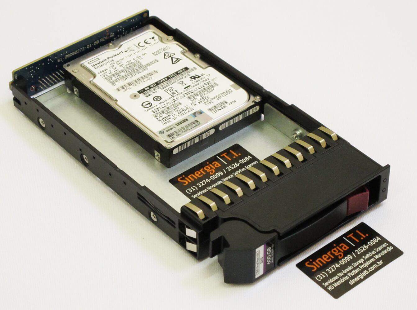 "EH0600JDYTL HD HPE 600GB SAS 12Gbps 15K RPM LFF 3,5"" Enterprise Hot-Plug Storage P2000 G3 e MSA pronta entrega"
