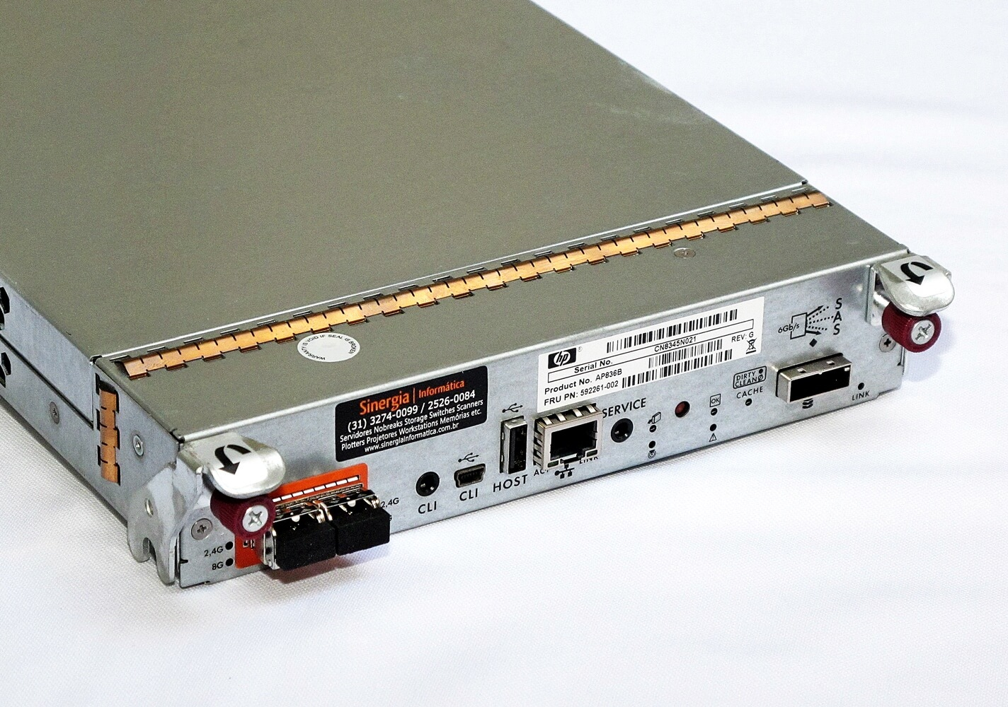 AP836B Controladora HPE MSA StorageWorks P2000 G3 Dual Port Fibre Channel 8Gb pronta entrega