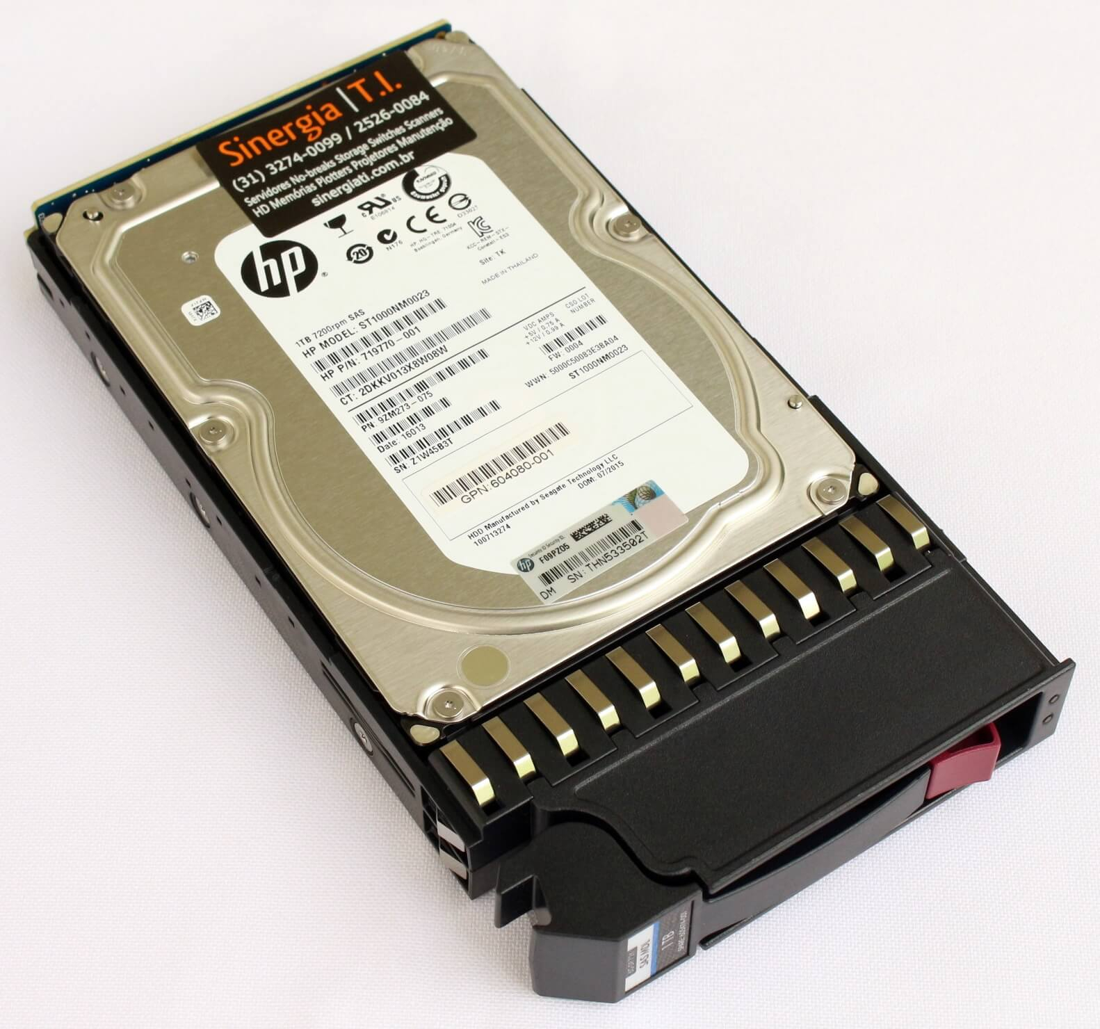 "PN: 9ZM273-075 HD HP 1TB SAS 6Gb/s Enterprise 7.2K LFF Hot-Plug 3,5"" Storage P2000 G3 MSA2312fc MSA2000 P/N inside"