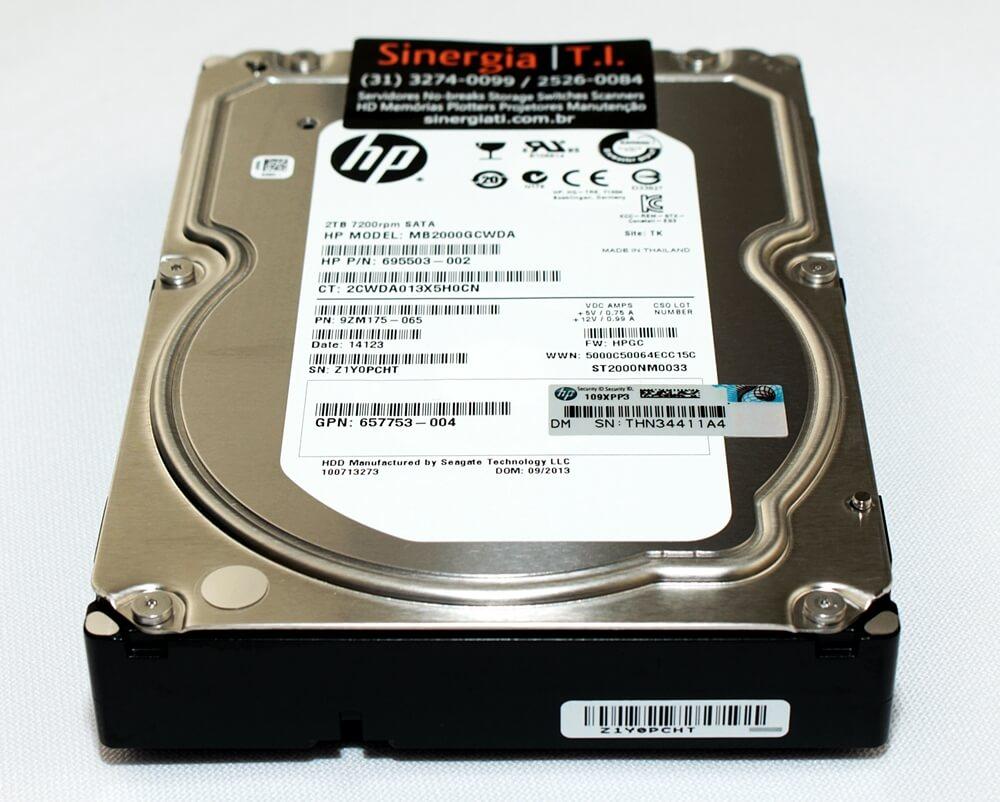 """659570-001 HD HP 2TB SATA 6G 7200 RPM 3,5"""" Model"""