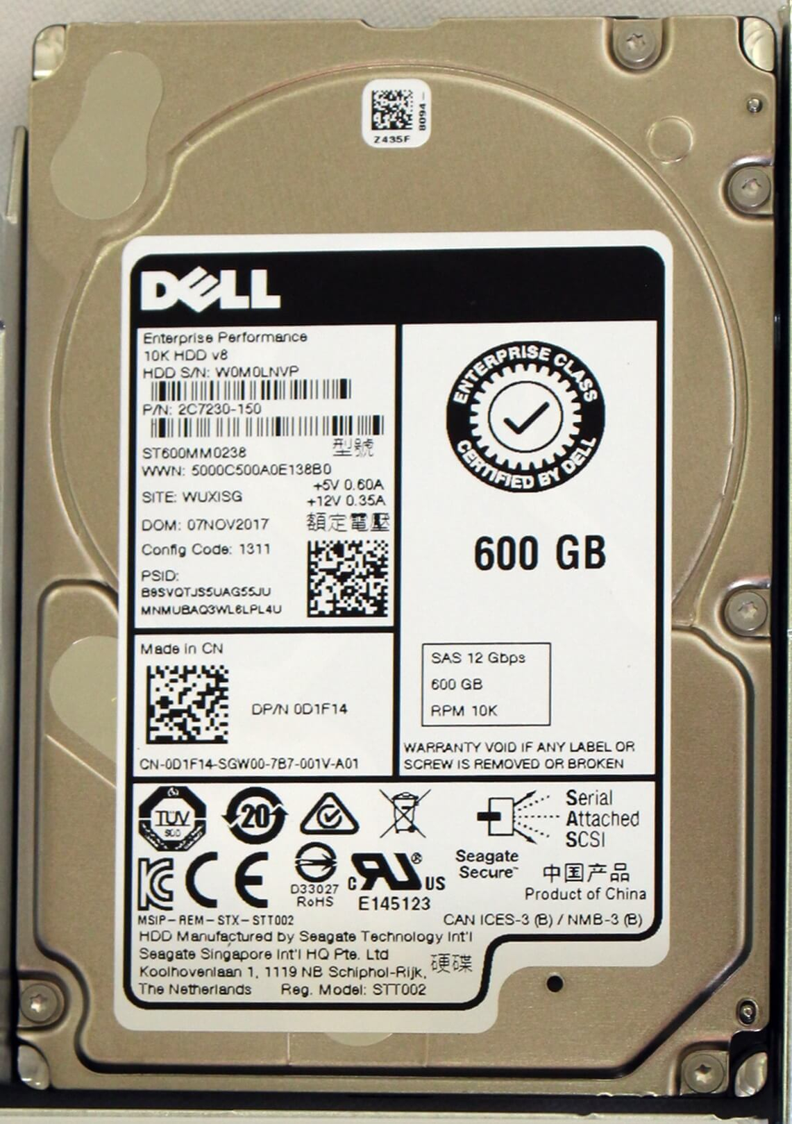 "400-ATIL HD Dell 600GB 10K SAS 12Gbps 512N 3.5"" para  Servidores Dell PowerEdge label"