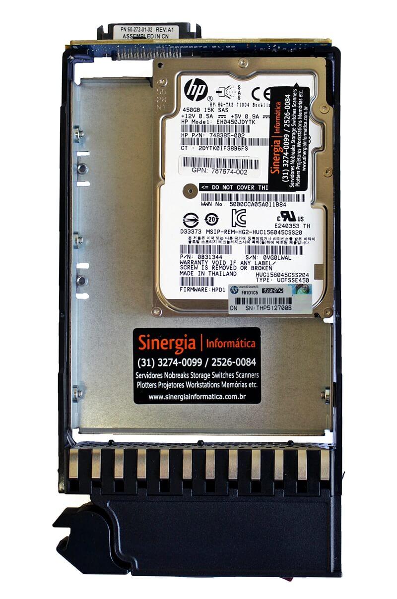 "SPARE: 787655-001 HD HP 450GB 12G Dual Port 15K SAS Enterprise LFF Hot-Plug 3,5"" Storage P2000 G3 e MSA etiqueta"