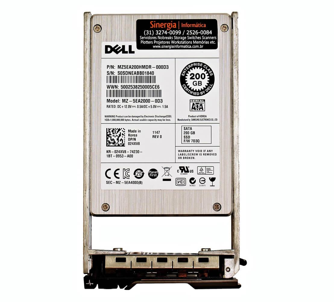 "Model: MZ-5EA2000-0D3 Dell 200GB SSD SATA 6Gbps 2.5"" MLC WI para Servidor Dell PowerEdge"