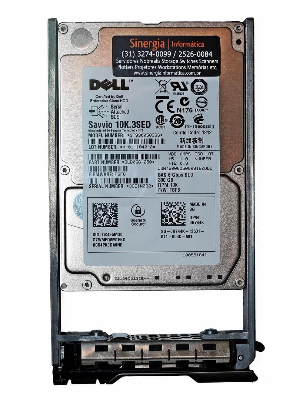 ST9300503SS HD Dell 300GB SAS Savvio 10K.3SED 6Gbps para Servidor R410 R510 R610 R710 R810 R815 em estoque