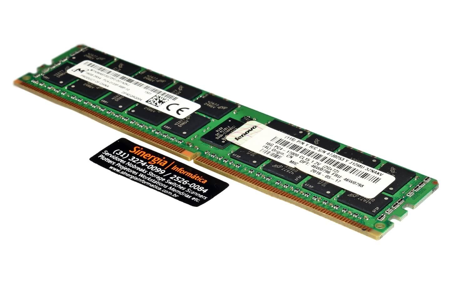 16GB 2Rx4 PC4-2133P-RBP-10 Memória Lenovo 16GB DDR4 2133MHz ECC Registrada Servidor Lenovo System X3550 x3650 M5 x3850 x3950 X6 pronta entrega