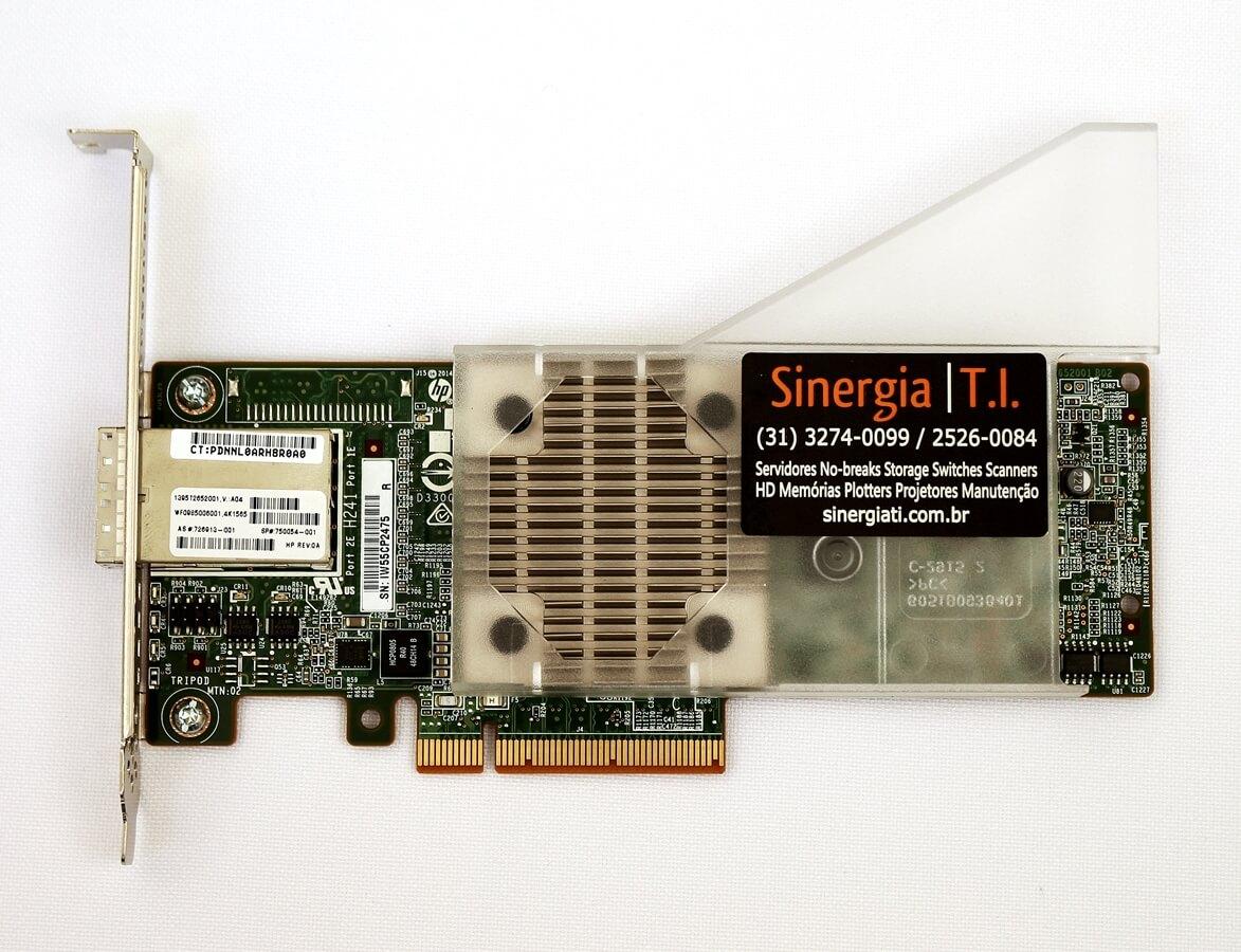 726913-001 HPE Controladora SAS (PCI-E) Single Channel HBA H241 Smart Host Bus Adapter SFF-8644 Mini SAS HD (High Density) pronta entrega estoque