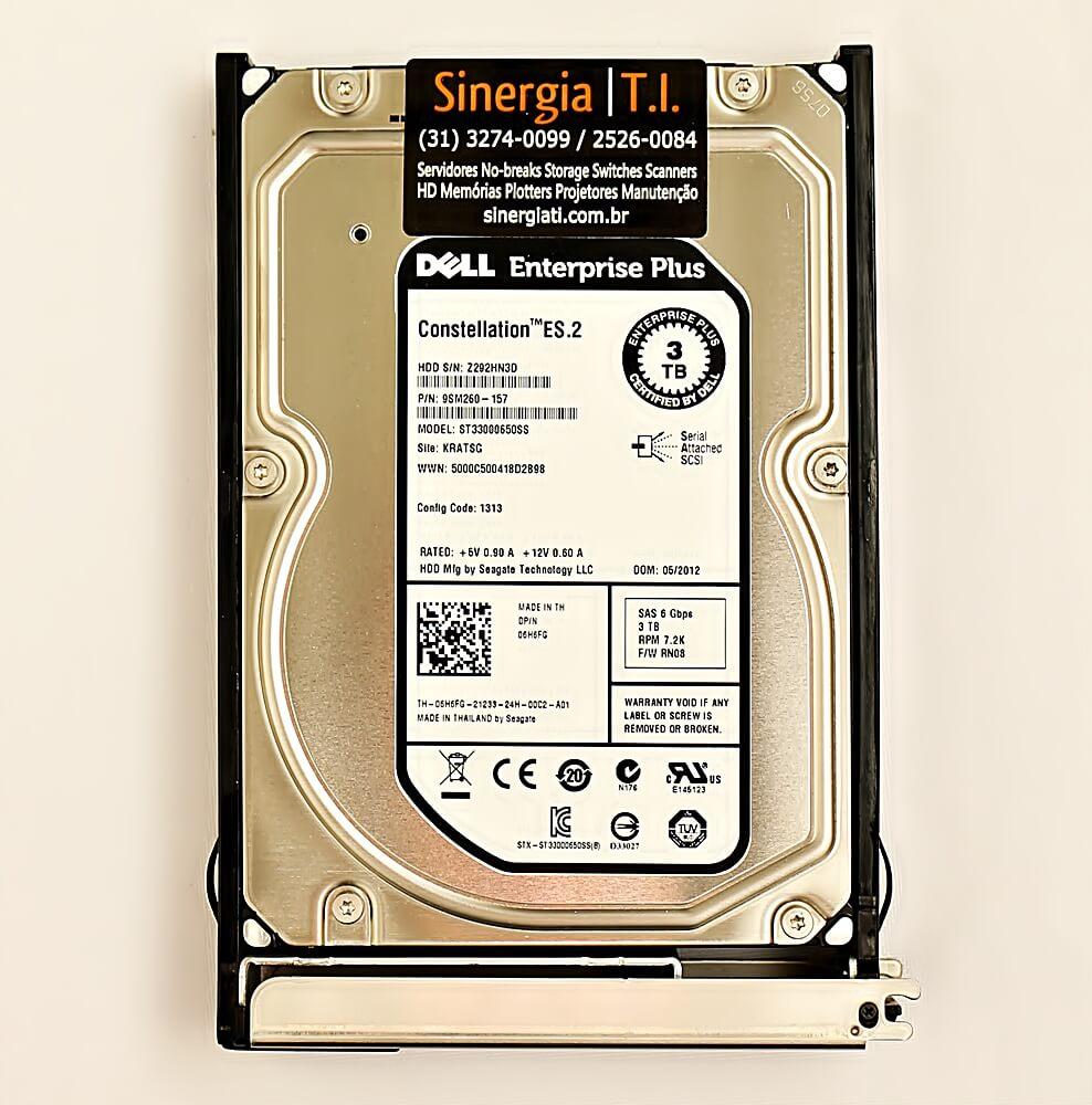 "F/C: RA-3T72-CES2-4835-DELL HD Dell 3TB SAS 7.2K rpm 6Gb 3,5"" para Storage Dell EqualLogic PS6510 PS6010E PS5000E PS6000E etiqueta"