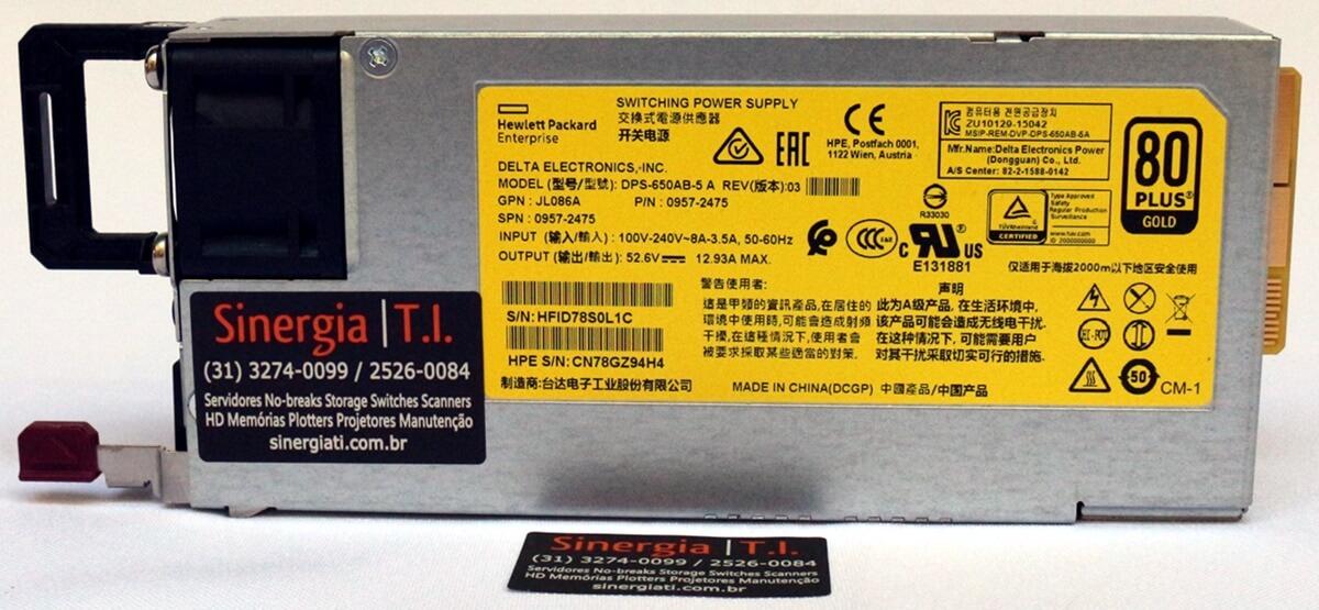 0957-2475 Fonte de alimentação Aruba X372 54VDC 680W - Switching Power Supply pronta entrega envio imediato em estoque