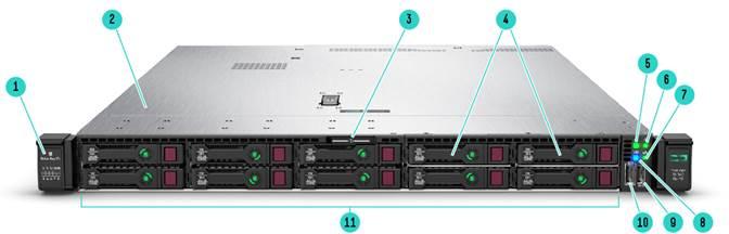 Servidor ProLiant HPE DL360 Gen10 1P 4214 1P 16G 8 SFF pronta entrega