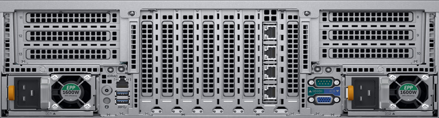 Servidor Dell EMC R940 PowerEdge Xeon foto frontal traseira