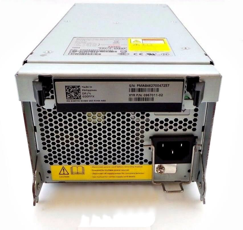 030FFX Fonte 450W para Storage Dell EqualLogic PS5500E PS6500E PS6500X PS6510E PS6510X PS6510 P/N: front