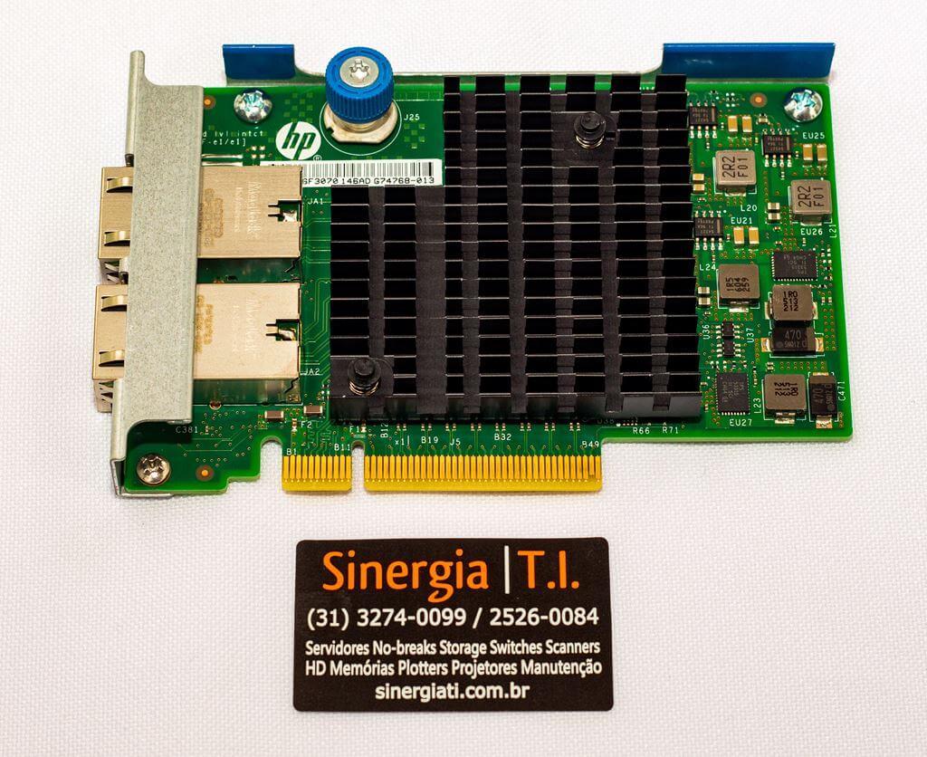 701525-001 HP Adaptador Ethernet 10Gb 2 portas 561FLR-T para Servidores Gen9 spares preço baixo