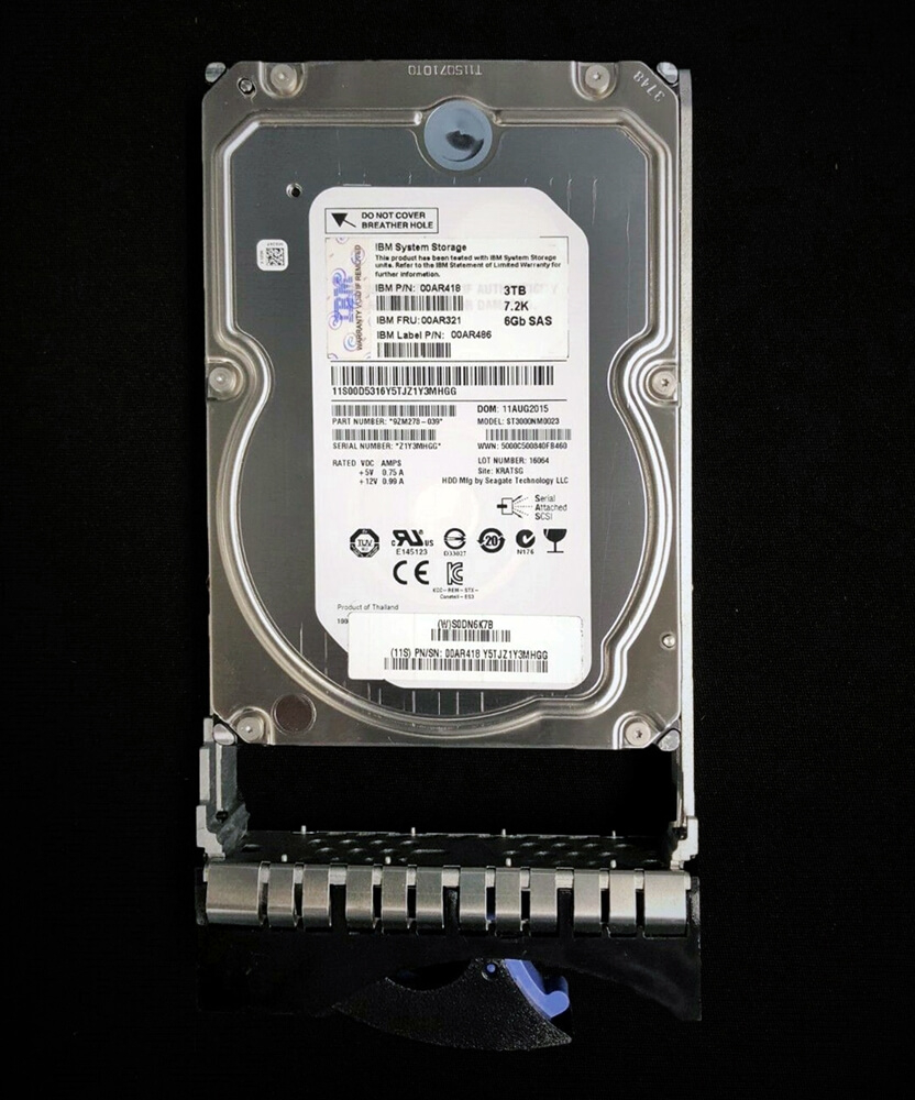 "00AR321 HDD IBM 3TB SAS 7.2K LFF 3.5"" NL para Storage V7000 G2"