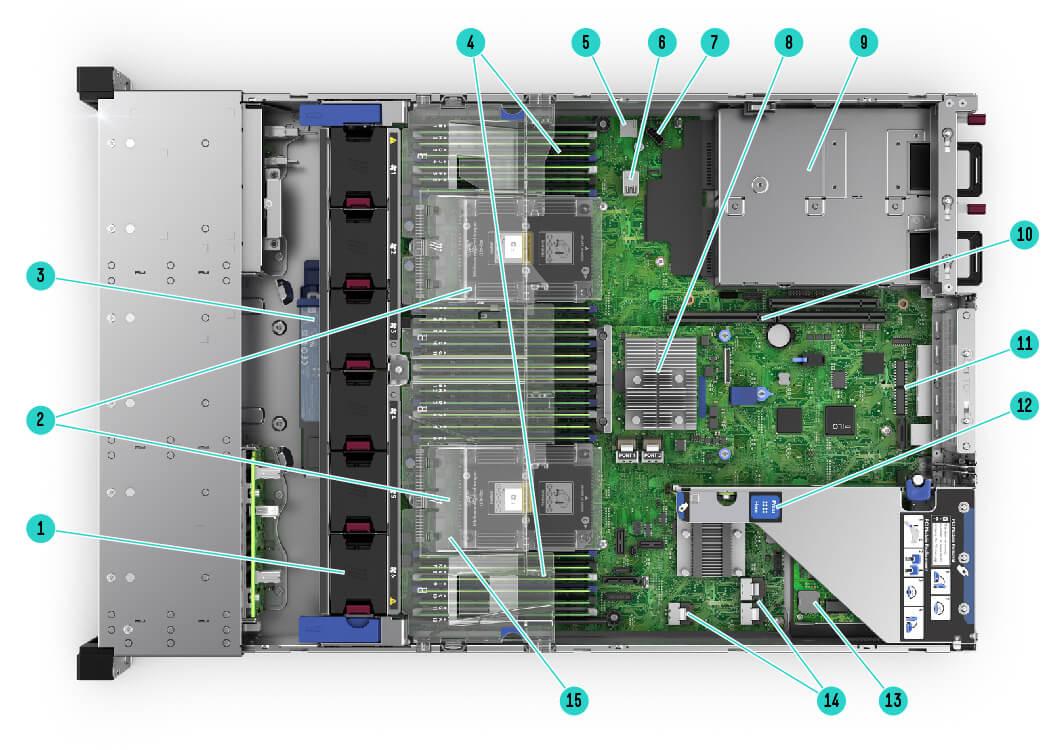 Servidor ProLiant HPE DL360 Gen10 1P 4214 1P 16G 8 SFF envio imediato