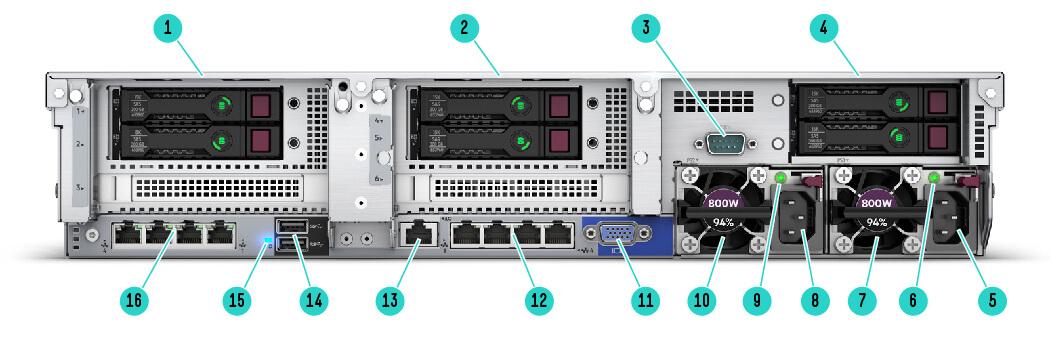 Servidor ProLiant HPE DL360 Gen10 1P 4214 1P 16G 8 SFF em estoque